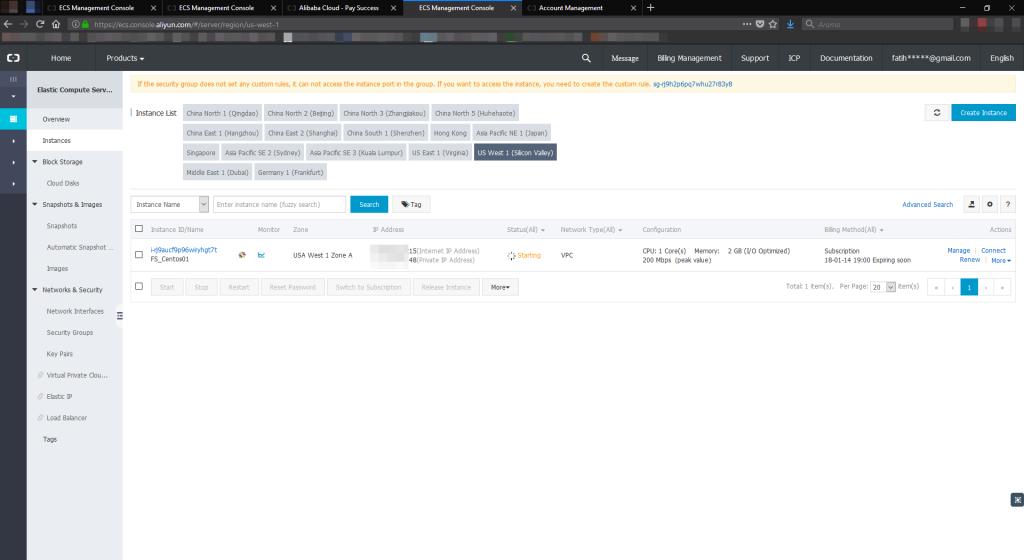Alibaba Cloud ECS