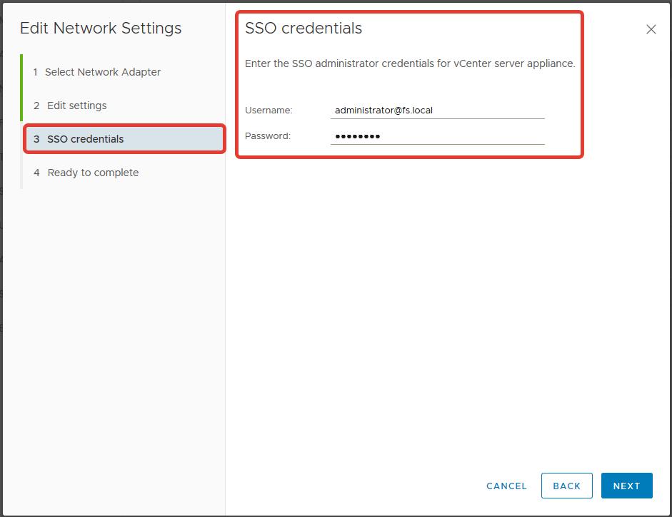 VMware vCenter Server (VCSA) Hostname Değiştirme
