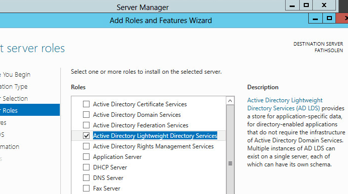 Active Directory Lightweight Directory Services