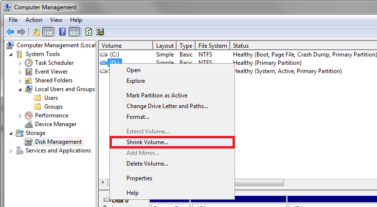 Windows Online Disk Bölme İşlemi